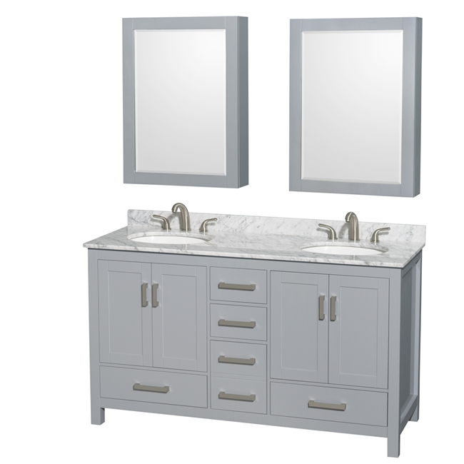 """Sheffield 60"""" Double Bathroom Vanity by Wyndham Collection ..."""