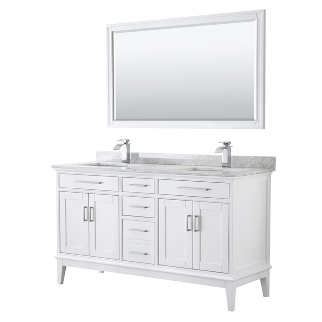 """Margate 60"""" Double Bathroom Vanity by Wyndham Collection ..."""
